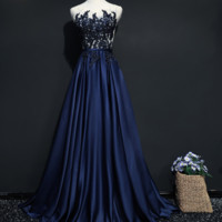 Evening dress 2018 new bride toast dress party dress banquet noble party elegant host dress