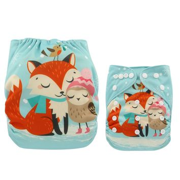 Ohbabyka Baby Cloth Diaper Cover Reusable Nappy Changing Unicorn Animal Waterproof Pocket Diaper Baby Nappies Shower Gifts