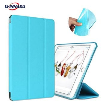 Case for Apple ipad mini 1 / 2 / 3 PU Leather + glitter soft silicone back cover tablet case ultrathin TPU shell coque housing