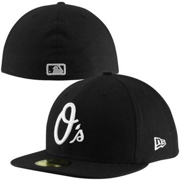 New Era Baltimore Orioles 59FIFTY Fashion Fitted Hat - Black/White