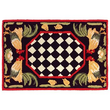 Trans Ocean Frontporch Rooster Indoor/Outdoor Rug