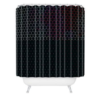 Caleb Troy HoneyComb Arcade Shower Curtain
