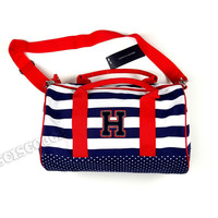 Tommy Hilfiger Duffle Bag Blue Striped Small