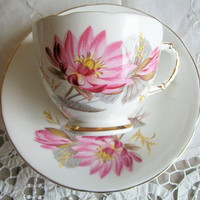 Royal Trent, Staffordshire England  Fine Bone China Cup and Saucer with Scalloped Edges