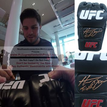 Henry Cejudo Autographed UFC Ultimate Fighting Championship Glove, Proof Photo