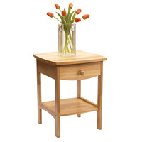 Curved End Table / Night Stand With 1 Drawer