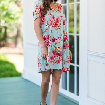 Here For The Flowers Dress, Mint