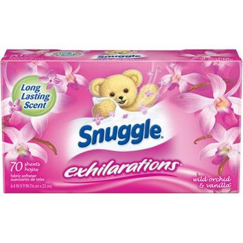 Snuggle Exhilarations Wild Orchid & Vanilla Fabric Softener Dryer Sheets, 70 sheets - Walmart.com