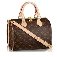 Louis Vuitton Monogram Canvas Speedy Bandouliere 25 Article:M41113 Made in France
