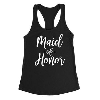 Maid of honor tank top, babe of honor tank, bachelorette  Tank Top