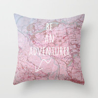 Be An Adventurer Throw Pillow by Ally Coxon | Society6