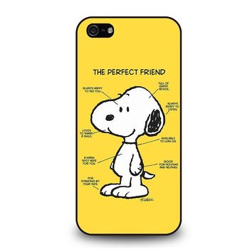 SNOOPY DOG PERFECT FRIEND iPhone 5 / 5S / SE Case Cover