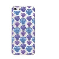 Sea Shell Pattern Transparent Silicone Plastic Phone Case for iphone 5/5S/5C _ LOKIshop (iphone 5)