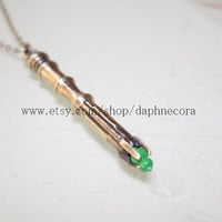 bronze sonic screwdriver necklace