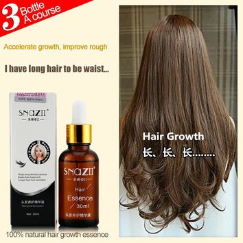 Hair growth essence SNAZII 100%Pure Plant Extract Hair Growth Essence Anti hair loss products hair thickening fibers Essence