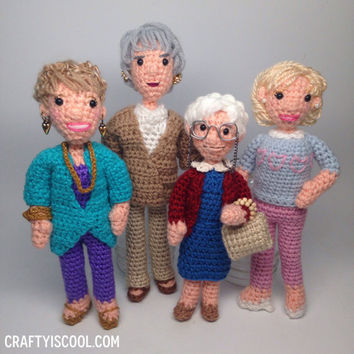 Golden Girls Crochet Amigurumi Dolls Set READY TO SHIP Now!