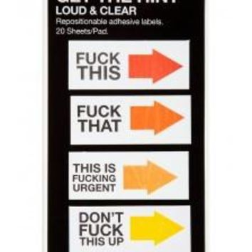 Fuck This / Fuck That - 100 Adhesive Label Flags