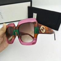 New Authentic Gucci Sunglasses GG178S Women's Pink Oversized Square