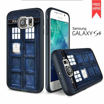 Tardis Doctor Who Police Box Samsung Galaxy S6 edge Case