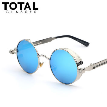 Sunglasses Coating Mirrored Sunglasses Round Circle Sun glasses