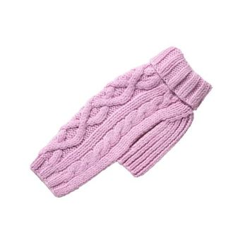 Nantucket Cable Knit Wool Sweater — Pink
