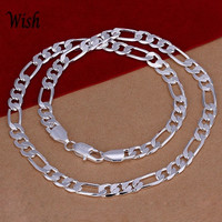 Fashion Men's Silver Plated Openwork Snake Chain Necklace Jewelry (Color: Silver) = 1841738884