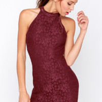 Wyldr Chaser Burgundy Lace Dress