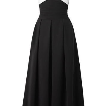 Preen by Thornton Bregazzi - Virginia off-the-shoulder stretch-cady midi dress