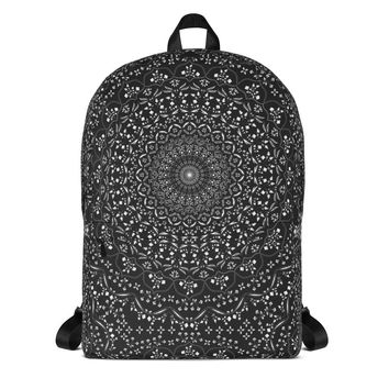 Mandala in Black Backpack