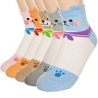 Salior Animal Character Socks - 5Pair