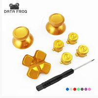 Custom Gold Aluminum Dpad + Metal Tumb stick + Face buttons Mod kit For Sony Dualshock 4 PS4 wireless Controller Video Game