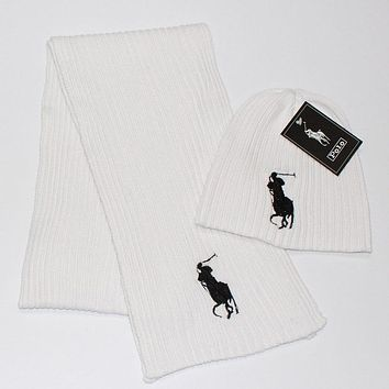 Polo Women Men Fashion  Casual  Hat Cap Scarf  Set Two-Piece