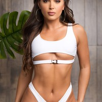 Mermaid Point Two Piece Swimsuit - White