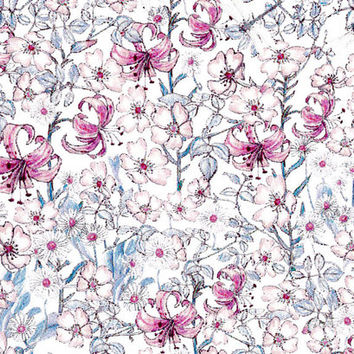 Liberty Tana Lawn Fabric - Liberty Japan - Cotton Print Fabric, Alice Mrs Monroe - Colorful Floral Scrap - Quilt, Patchwork - NT15SS13