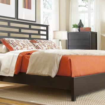 Athena Transitional King Panel Complete Bed Dark Chocolate