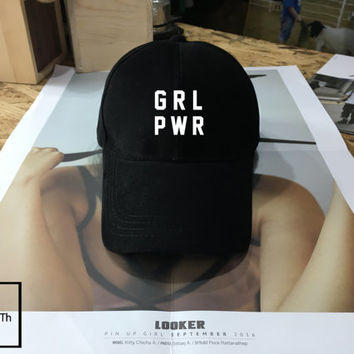 Girl Power hat - Baseball Cap, Tumblr hat , Feminism, Street Fashion, Baseball Hat Baseball Cap , Low-Profile Baseball Cap Hat