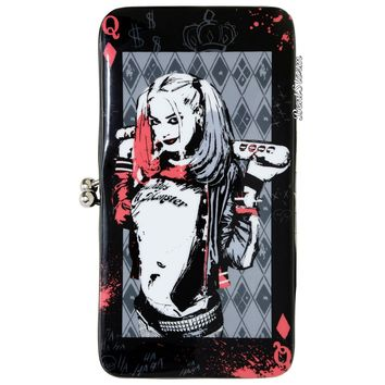 Licensed cool DC  Suicide Squad Harley Quinn Kisslock Hinge Wallet w/ Zipper pouch NEW