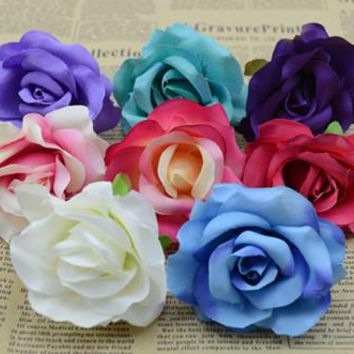 6.5cm Artificial flowers rose snow-capped mountains rose flower wreath silk flower corsage bag accessories wedding accessories