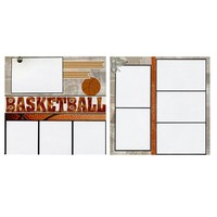 Basketball - 2 Coordinating Premade Scrapbook Pages | SusansScrapbookShack - Paper/Books on ArtFire