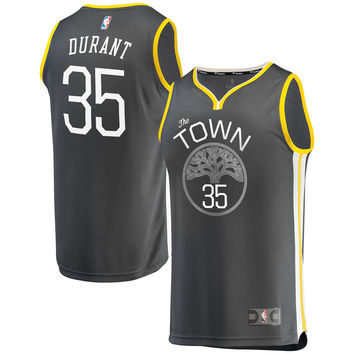 Youth Golden State Warriors Kevin Durant Fanatics Branded Black Fast Break Replica Jersey - Statement Edition