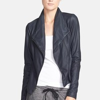 Women's Vince 'Paper' Leather Scuba Jacket,
