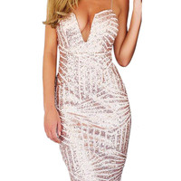 Sweetheart Cami Dress In All Over Sequin