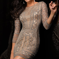 Sequin Dress with Sleeves by Scala