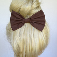 Brown Hair Bow Clip Brown Bow Brown Hair Clip bows for women bows for girls Brown clip classic bow fabric hair bow Brown hairbows winter bow