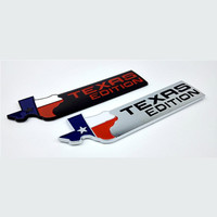 TEXAS EDITION Trunk Auto Tail Emblem TEXAS Side Wing Badge Car Fender Sticker for JEEP Renegade Wrangler Patriot Cherokee SUV