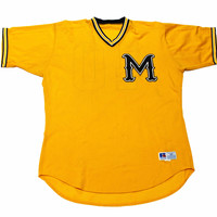 Vintage 90s Yellow/Black College of Marin Baseball Jersey Mens Size 48 (XL)