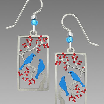 Sienna Sky Earrings - Two Birds in a Cherry Tree