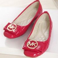 MK Summer Spring And Autumn Women Flats Trending Boat Shoes Woman Casual Brand Single Shoes Red