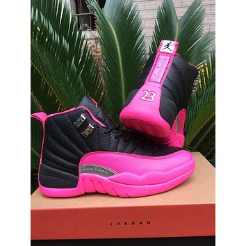 Best Deal Online Nike AIR JORDAN 12 GS ???DEADLY PINK??? 510815-026