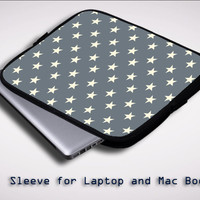 Stars Pattern X0186 Sleeve for Laptop, Macbook Pro, Macbook Air (Twin Sides)
